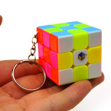 35mm Mini 3x3x3 Keychain Magic Cube Speed Puzzle Cubes Classic Toy Learning & Education Toys Cubo Magico Kub(China)