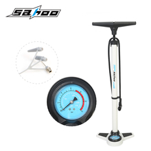 SAHOO 2017 Cycling MTB Aluminum Alloy Bicycle Floor Pump Bike Pump with Pressure Gauge High Pressure 160PSI Bicycle Accessories
