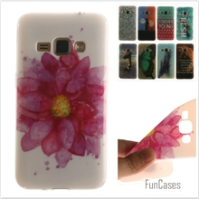 Luxury High quality Soft TPU Butterfly flower Pattern phone Cases for Samsung Galaxy J1 2016 J120 J120F Rubber Silicon cover