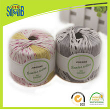 jingxing, OEKO TEX quality shanghai SMB popular selling pattern dyed 40g skeins bamboo cotton yarn for knitting baby sweaters