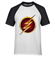 Superhero The Flash The Big Bang Theory Sheldon Cooper Raglan Sleeve Cotton T Shirts Men O Neck Tops Tees Camiseta(China)