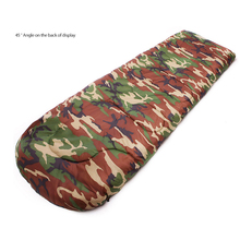 Outdoor Hiking Lazy Bags Cotton Army/ Military/camouflage Sleeping Bag Camping Duck Down 20-10degree Envelope Sleeping Bag(China)
