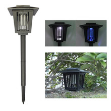 New Arrive Solar Mosquito Killer Lawn LED Lights Outdoor Garden Solar Powered Insect Pest Bug Killer Repellent Lamp Light