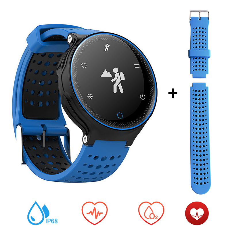 Smart Watch Heart Rate Blood Pressure Oxygen Monitor IP68 Waterproof Fitness Tracker Pedometer Ultra-long Standby Smartwatch<br>