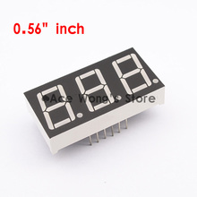 "(50Pcs/lot) Wholesale 0.56"" inch 3 Digits 7 Segment Segment Red LED Numeric Digital Display,Common Cathode(China)"