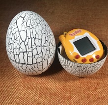 White color Dinosaur egg Virtual Cyber Digital Pet Game Toy Tamagotchis Digital Electronic E-Pet Christmas Gift(China)