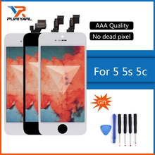 AAA Screen For iPhone 5 5S 5C LCD Display Touch Screen Assembly With Digitizer Glass No Dead Pixel Phone Parts Black White(China)