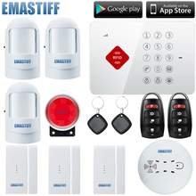 Big sale S3B Wireless GSM Home Alarm System multi-language Security burglar Alarm with SMS and App Control with RFID keyapd