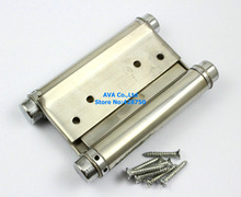 "2 Pieces 4"" Double Action Spring Hinge Saloon Cafe Door Hinge Swing Western Door(China)"