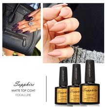 Hot Sale Sapphire Matt Top Coat Nail Art UV Gel Polish Matte Top coat LED UV Soak Off Nails Tools UV Gel Polish(China)