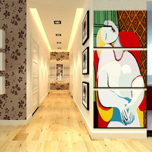 xdr167  Oil Painting Picasso LE REVE the dream Art Print Canvas Painting On Canvas Modern Wall Pictures for Living room