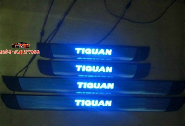 LED Door sill scuff plate For VW Tiguan 2009 -2011 12<br><br>Aliexpress