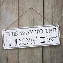 1pc Wedding Yard Sign This way to the I do's Fun Expression Wooden Arrow Direction Sign card Romantic wedding decoration L30