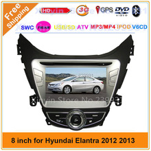 2 din 8 inch Car DVD player for hyundai Elantra 2012 2013 with car video system GPS navigation Bluetooth IPOD Radio