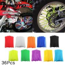 Vehemo 36Pcs Motorcycle Wheel Rim Spoke Covers Wrap Tubes Decor Protector Kit Cart styling(China)