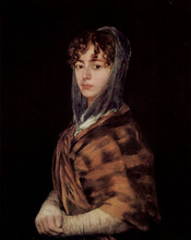 Free shipping 100% hand painted most famous artists painting reproduction goya oil painting Francisca-Sabasa--Garcia