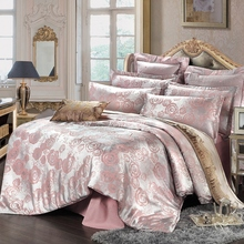 Home textile Jacquard  2016   Wedding  Bedding Sets  Queen Size 4Pcs  Duvet Cover Bed Sheet Pillowcase