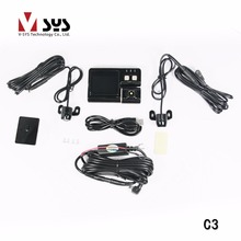 "Vsys 2CH 2.0"" separate waterproof Car Motorcycle Rear View Monitor&Waterproof License Plate Backup Camera digital recorder"