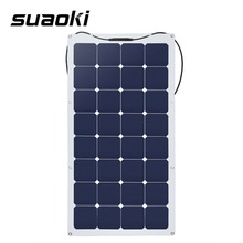 Suaoki 100W Solar Panel high efficiency conversion Sunpower Solar Cell Battery Charger with MC4 Connector on RV Boat Cabin(China)