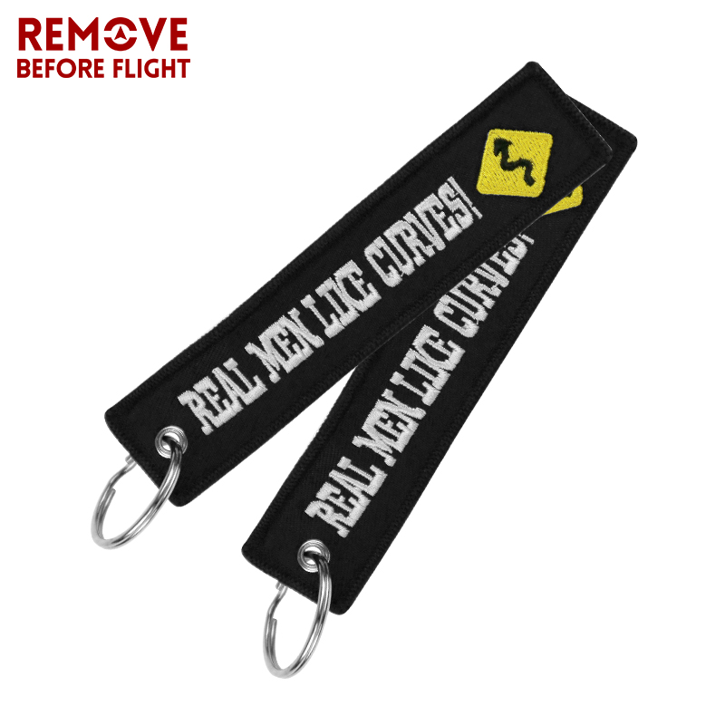 Fashion Motorcycle Chain Keychain Bijoux for Cars llaveros Key Chains Embroidery Real Men Like Curves Key Fobs OEM Car Key Chain (10)