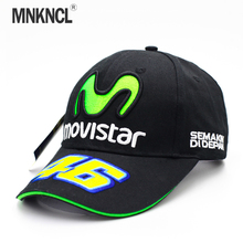 MNKNCL Rossi VR46 Baseball Cap MOTO GP Motorcycle 3D Embroidered Racing 46 Hat Men Women Snapback Cap Sun Brand Hats Bone(China)
