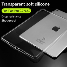 For Apple iPad Pro 9.7/iPad Pro 12.9 TPU Soft Case Cover Crystal Clear Transparent Ultra Thin Shell Tablet accessories