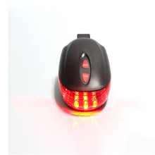 Waterproof Cycling Bike Bicycle 2 Laser Projector Red Laser Lamps Beam and 3 LED Rear Tail Lights for MTB Road Bicycle Wholesale