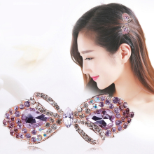 Beautiful Crystal Rhinestones Bow Peacock and Candy Designs Hair Clips / Fashion Hair Accessories Jewelry for Girls in assorted