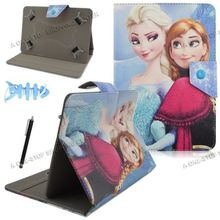 Congelados Princess Snow Queen Elsa Anna Universal PU Leather Case Cover for Teclast P80H 8 inch Tablet PC MTK8163 Android 5.1