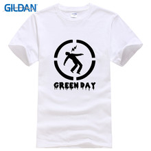24 Hour T Shirts Gildan O-Neck New Style Short Sleeve Green Day Tee Shirt For Men(China)