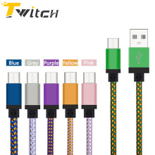Newest MICRO USB CABLE 25cm/1M/2M/3M Phone Cables Nylon Fast Data Sync Charging USB Micro For Samsung Galaxy HTC LG XiaoMi