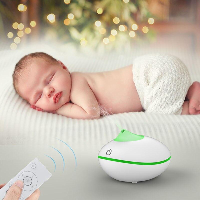 GXZ Remote Control Wood Grain Humidifier 200ml Ultrasonic Aroma Diffuser Mini Night Lights Household Air Purifier AC 100-240V<br>