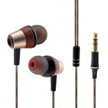New HLSX BK50 Wooden Pink Hybrid Balance Armature With Dynamic IEM HI-FI In Ear Earphones Earbuds with Mic and Volume Control