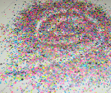 50g Neon Powder pigment Mix Hexagon and Round nail glitter Solvent Resistant for Nail Polish&Gel Acrylic Nail make up