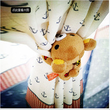 Winnie the pooh curtain bind belt tied beautiful window curtain accessories lashing the sun Korean cute plush