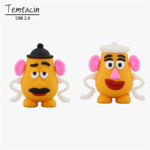 Hot Sale 100% Real Capacity Cute Mr. Potato Head 3 Model Pen Drive 1GB-32GB USB Flash Drive PenDrive Memory Stick Free Shipping