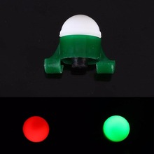 2pcs/lot Flashing LED Night Fishing Light Double Green Stands Clip On Fishing Rod