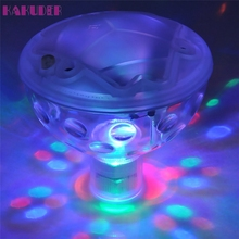 KAKUDER pool light Floating Underwater LED Disco Light Glow Show Swimming Pool Hot Tub Spa Lamp lumiere disco piscine(China)