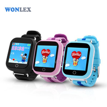 Wonlex GW200S Baby GPS Watch with Wifi Positioning 1.54 Inch Color Touch Screen SOS Tracker Safe Anti-Lost Kids GPS Watch(China)