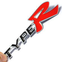 3D Metal Alloy Type R TypeR Sticker For Honda City CR-V XR-V HR-V Accord FIT Jazz Stream Crider Greiz CIVIC  Spirior Jade
