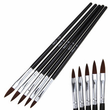 5pcs Nail Art Brush Tools Set Crystal Tips Acrylic UV Gel Builder 3D Design Painting Drawing Carved Brushes Pen kits DIY tools