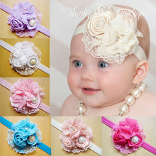 2015newborn Newborn Baby Girls Satin Ribbon  lace rhinestone headband Flower Headbands Photography Props children  Accessories