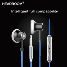 HEADROOM MS16 in-ear Earphone with Mic Sports Headset Women Man Noise Canceling Stereo Bass Headphone for Computer iPhone xiaomi(China)
