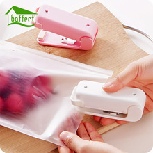 2Pcs/Lot Portable Hand Pressure Mini Sealing Machine Heat Sealer Capper Food Saver Storage For Plastic Bags Package(China)
