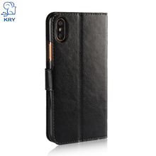 KRY Business PU Wallet Fundas Cover For iPhone x Case Capa Coque Luxury Flip Leather Phone Cases For iPhone x Case Anti-Knock(China)
