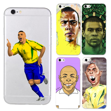 UVR Brand Ronaldo Luiz Nazario De Lima phone case for iphone 5 5s 6 6s 7 7 plus 6plus soft TPU Transparent Football case