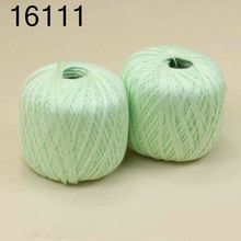 Free shipping  2 BallsX50g High quality soft 100% Cotton Crocheted Yarn Bright green 16111