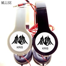 MLLSE EXO EXO-M KRIS Adjustable Stereo Bass Headphones Music Game Earphones Phone Headset for Iphone OPPO Samsung Computer PC