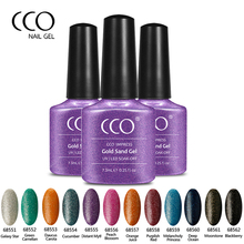 CCO Impress Gold Sand Gel Nail Polish Noble Pure Purple Bottle Gel Varnish Supply Lucky Color UV LED Soak Off Kit For Nail Art(China)