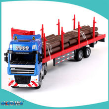 Alloy engineering vehicle model transport truck trailer wood car children's day gift new year gift(China)